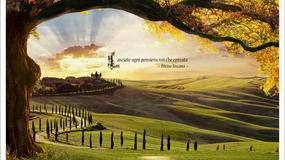Boska Toskania sfałszowana - kampania promocyjna Divina Toscana przedstawia... miejsca, których nie ma; turystyczne oszustwo z Photoshopa