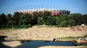 Polska - plaża pod Stadionem Narodowym