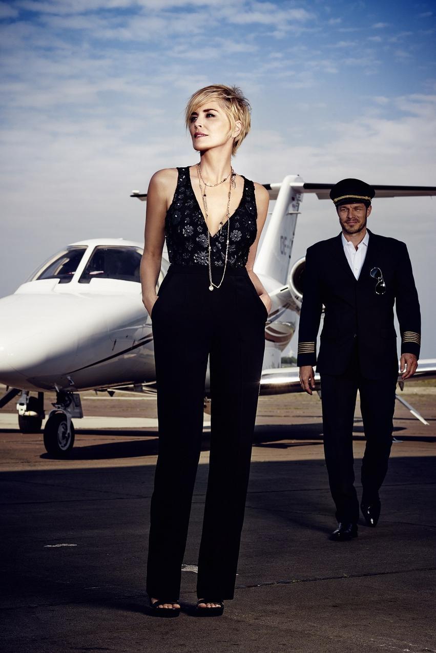 Sharon Stone w kampanii Airfield wiosna-lato 2016