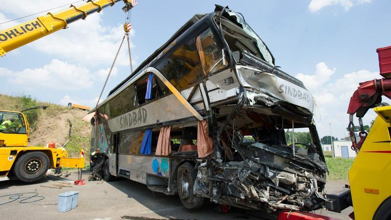 Tak wygląda polski autobus po wypadku