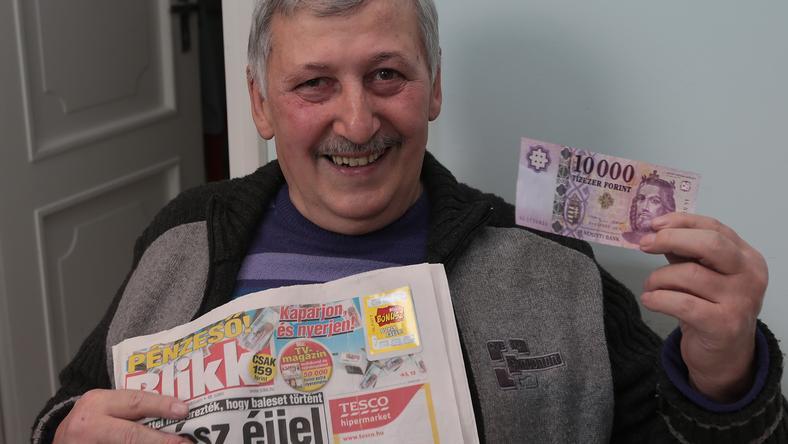 Vitai Tivadar 6 éves unokájára fordítja majd a 10 ezres nyereményt / Fotó: Gy.Balázs Béla