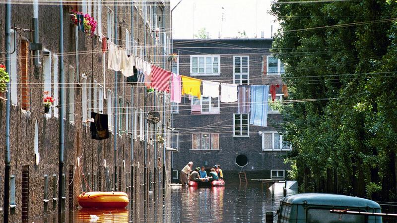 Wrocław podczas powodzi tysiąclecia