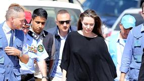Chuda Angelina Jolie w obozie dla uchodźców