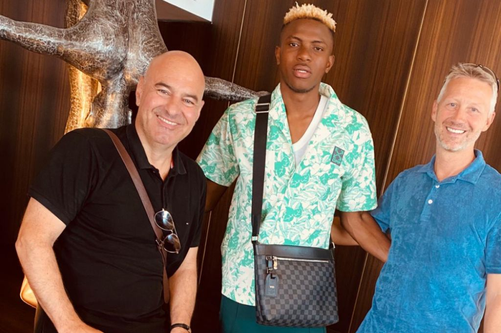 Victor Osimhen allegedly parted ways with his former managers for negotiating his deal with Napoli with priority on their interest  (Facebook)