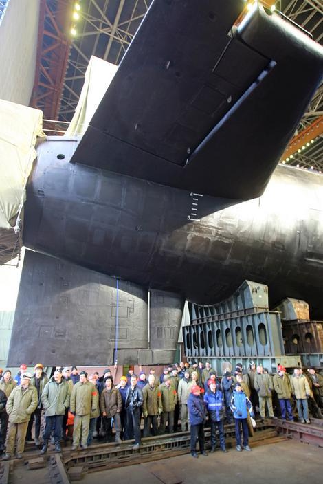 Porinuće ruske podmornice klase Dolgorukij