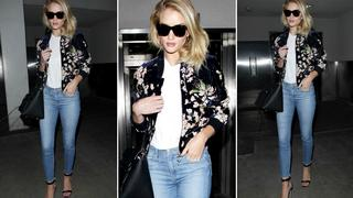 Best Look: Rosie Huntington Whiteley w kurtce od Magdy Butrym