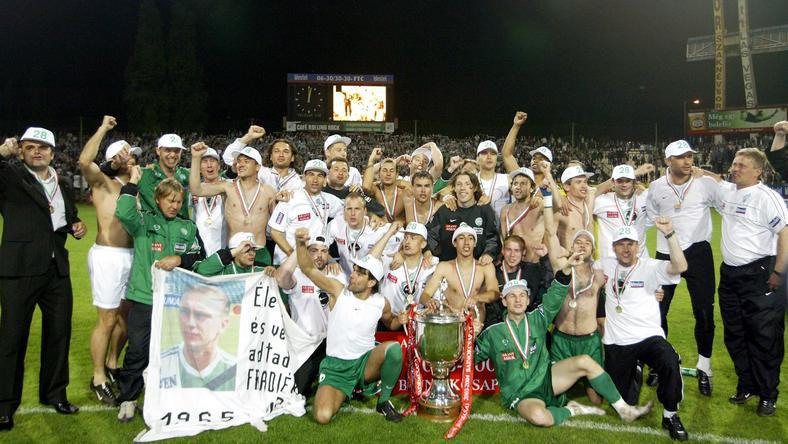 Így ünnepelt a Fradi 2004-ben / Fotó: AFP