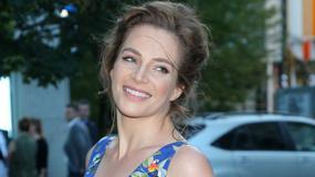 Anna Dereszowska w niebieskiej sukni na premierze filmu. Aktorka wyglądała zjawiskowo