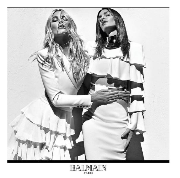 Gwiazdy mody lat 90. w kampanii Balmain