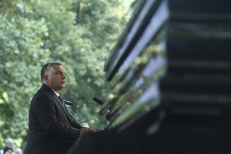 Orbán Viktor miniszterelnök búcsúbeszédet mond  /Fotó: MTI -Koszticsák Szilárd