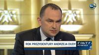 Szef gabinetu prezydenta pozytywnie o roku prezydentury A. Dudy