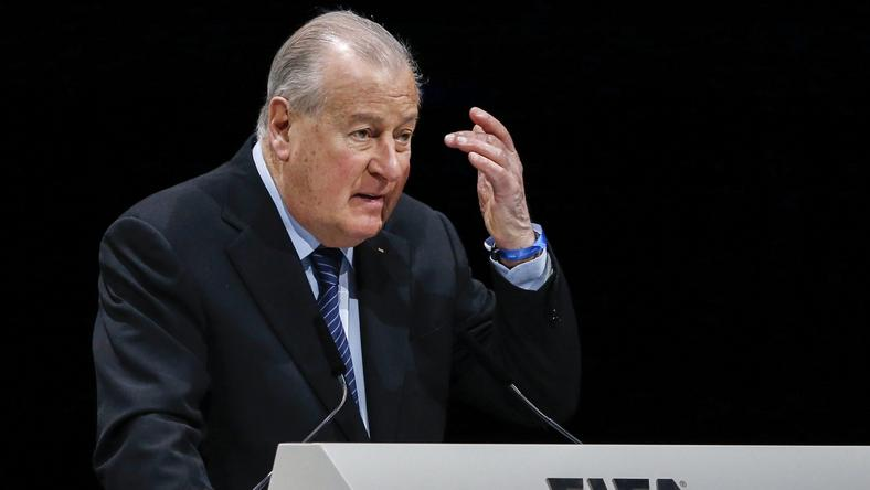 Francois Carrard, a FIFA reformbizottságának elnöke beszél a rendkívüli tisztújító kongresszuson /Fotó: MTI/EPA/Patrick B. Kraemer