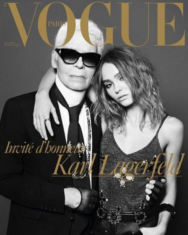 Karl Lagerfeld i Lily-Rose Depp