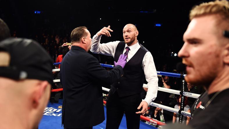 Tyson Fury megint nem bírt magával/Fotó: AFP