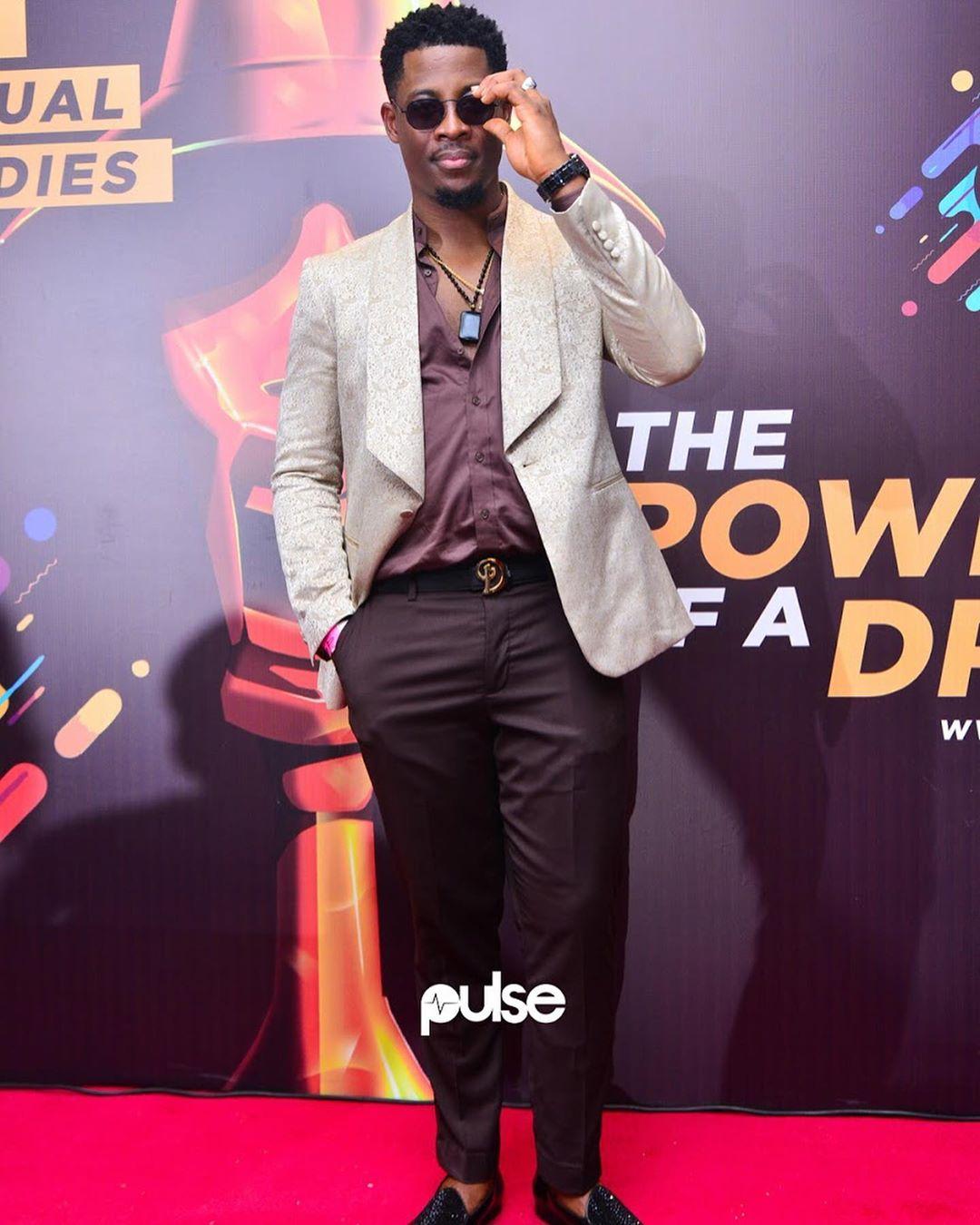 #BBNaija Seyi looked dashing in Davidwej suit [Credit: Instagram/ Pulse NG]