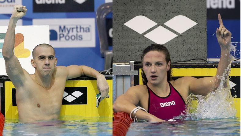 Győzelmük igazán nem lepett meg senkit, de Katinka a balhéja ellenére is fölényesen győzött a magyar sportújságírók szavazásán / Fotók: MTI