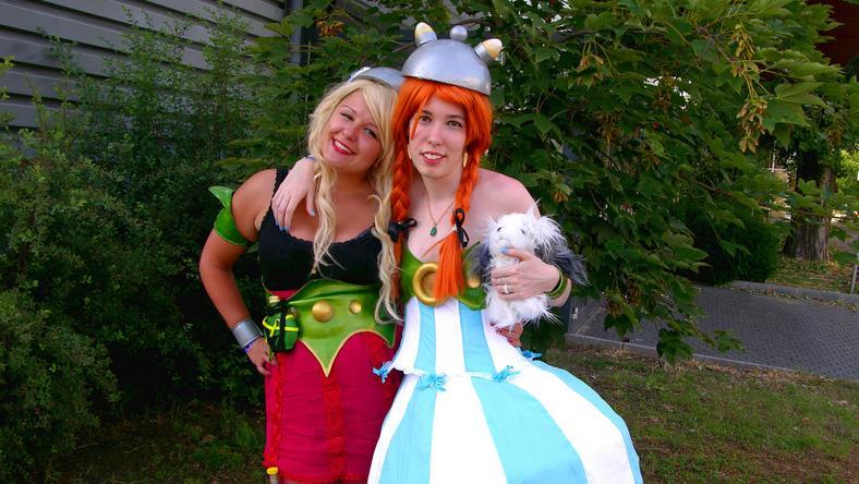 Horváth Anna és Ondi Boglárka civilben vegyész- és építész-hallgatók, de most ők Asterix és Obelix