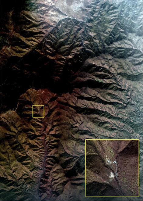 Lokacija na kojoj je Severna Koreja izvela nuklearnu probu, koju su seizmolozi registrovali kao zemljotres