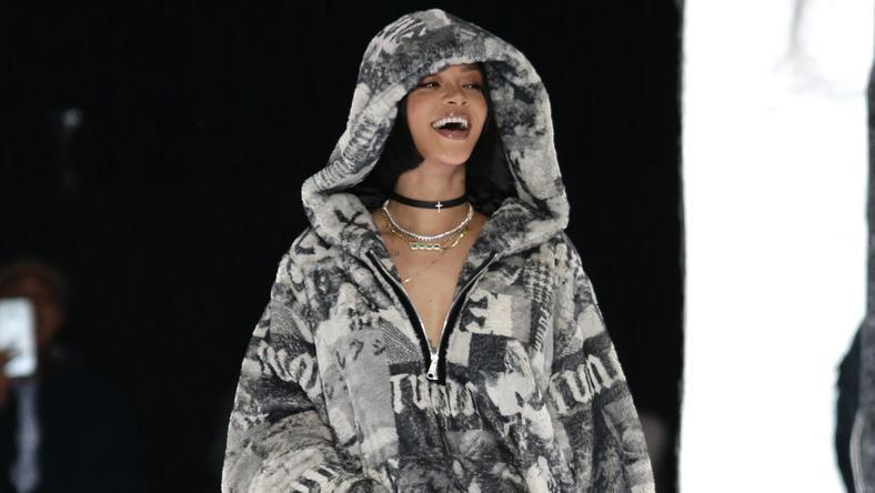 Rihanna a New York-i divathéten mutatta be közös kollekcióját a sportmárkával / Fotó: Northfoto