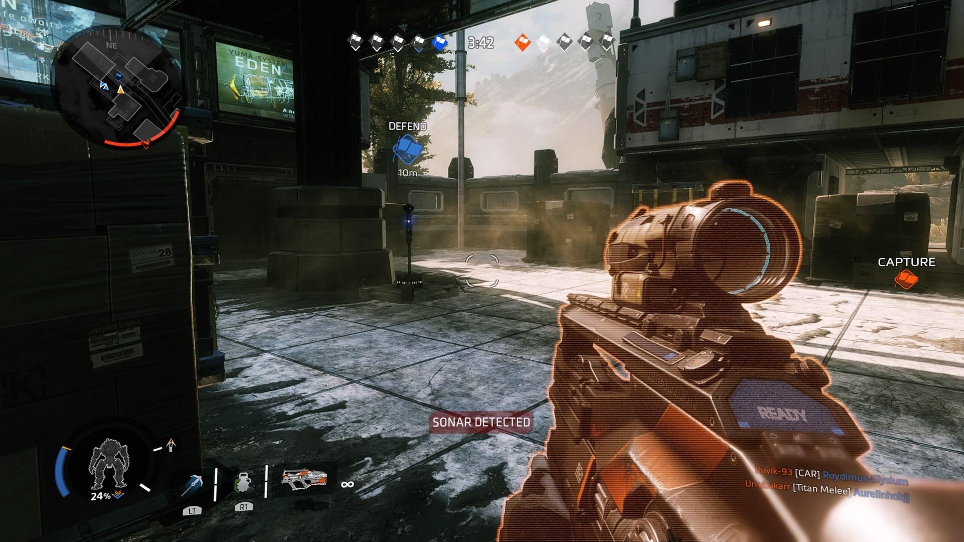 V hre viacerých hráčov sa nájde aj tradičný mód Capture the Flag