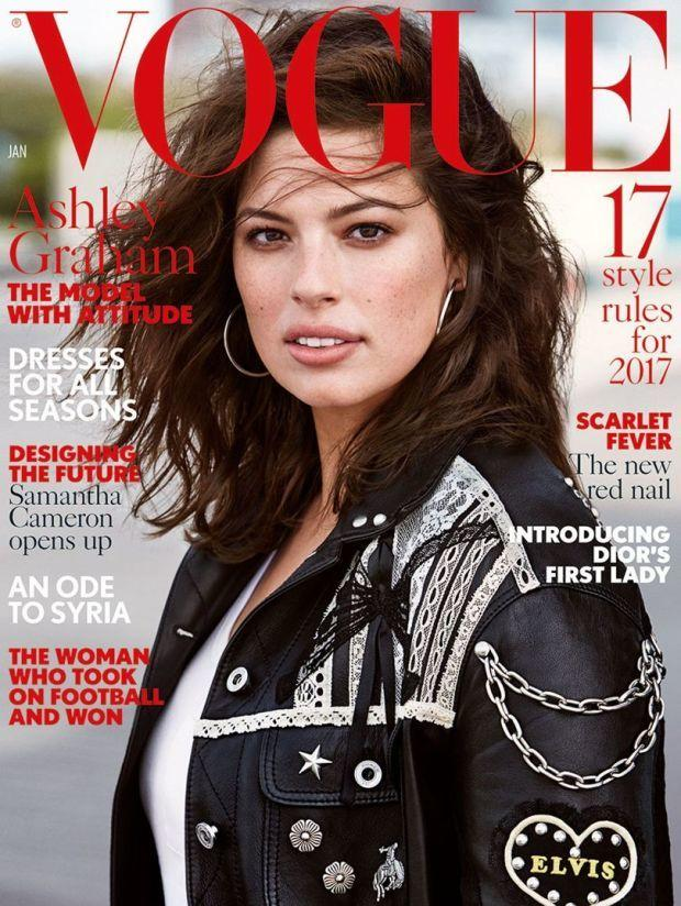 "Ashley Graham na okładce ""Vogue'a"""