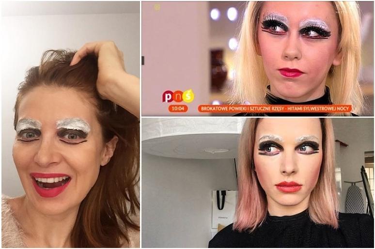 Ada Fijał i Maffashion w parodii makijażu TVP