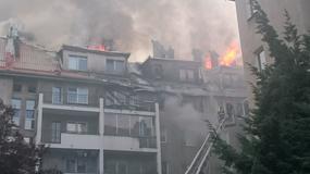 Wielki pożar bloku w Warszawie. Ewakuowano blisko 100 osób