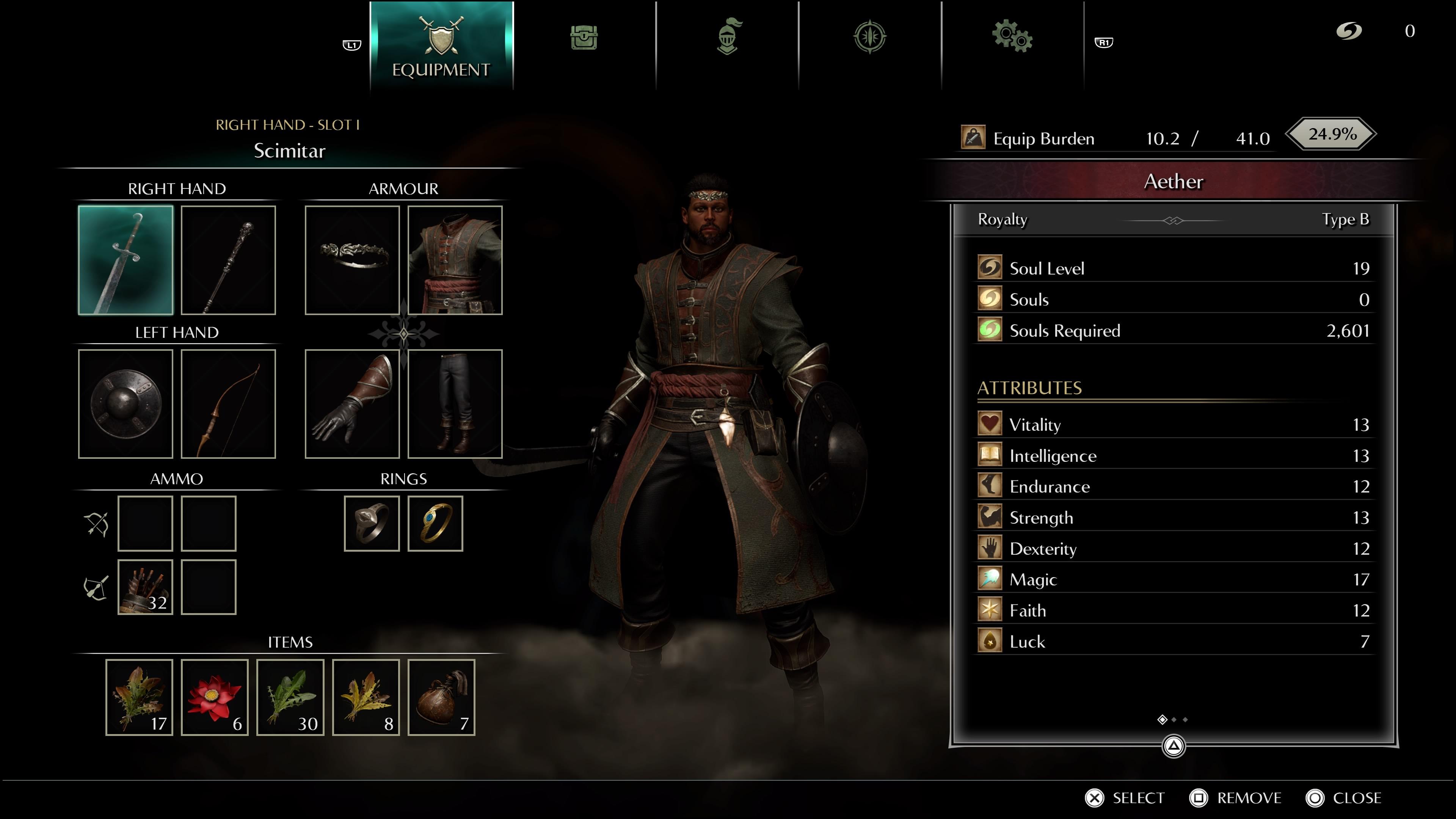 Štatistiky postavy a množstvo výbavy dáva jasný signál, že ide o poctivé RPG.