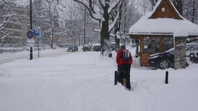Śnieg paraliżuje Zakopane