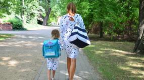 """Aktorka serialu """"Pierwsza miłość"""" odprowadziła swoją 6-letnią córkę do szkoły"""
