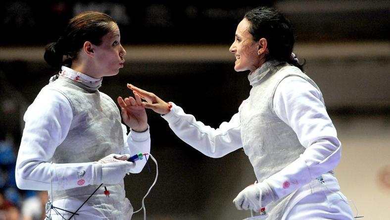 Knapek Edina (balra) és Mohamed Aida is ott lehet a riói olimpián /Fotó: MTI Földi Imre