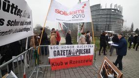 Pikieta Klubów Gazety Polskiej przed Parlamentem Europejskim