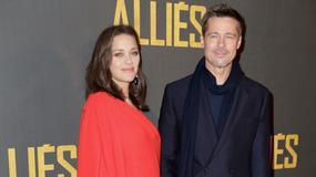 """Marion Cotillard i Brad Pitt razem na premierze filmu """"Sprzymierzeni"""". Ciążowe krągłości aktorki coraz większe"""