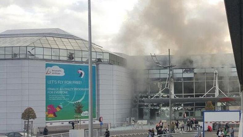 Bomba robbant a brüsszeli repülőtéren / Fotó: Twitter