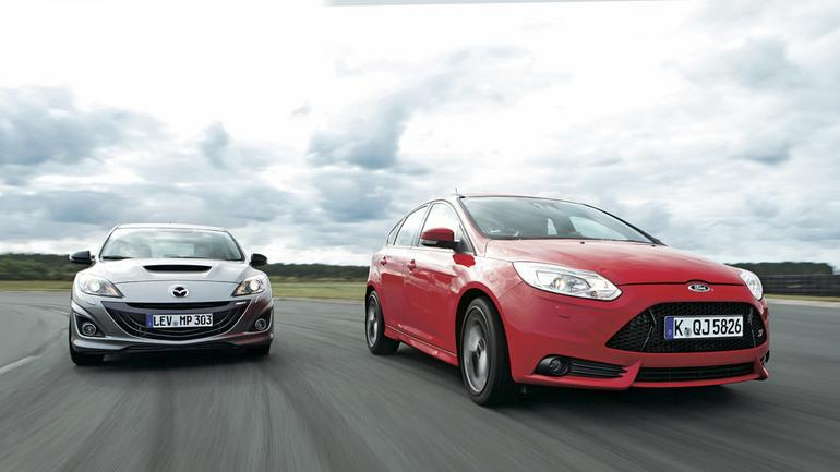 Mazda 3 MPS kontra Ford Focus ST: rasowe kompakty na ulicy i torze
