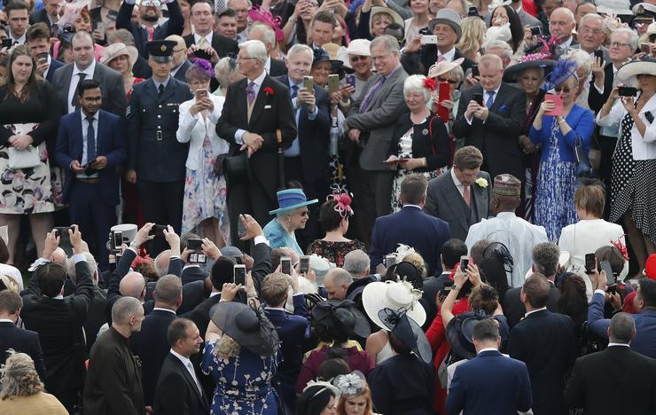 II. Erzsébet királynő kerti partit tartott / Fotó: MTI - Frank Augstein