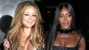 Mariah Carey i Naomi Campbell odsłoniły dekolty na imprezie. Która wypadła lepiej?