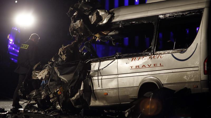 Przybędza, miejscowość koło Żywca, gdzie doszło do wypadku, fot. PAP/Andrzej Grygiel