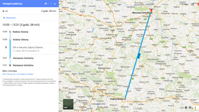 PKP Intercity na Mapach Google
