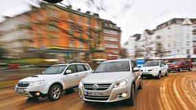 Subaru Forester kontra VW Tiguan, Renault Koleos i Mitsubishi Outlander - Czyli SUV-y na terenie miasta