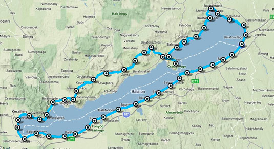 balaton térkép részletes déli part Körbefutjuk a Balatont!   Blikk.hu balaton térkép részletes déli part