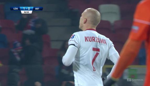 Górnik Z. - Bruk-Bet (2:0): Błyskawiczna kontra i wspaniałe wykończenie Kurzawy. Piękny gol!