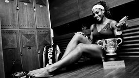 Serena Williams w pięknej sesji zaprezentowała trofeum