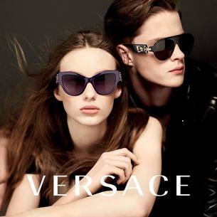 Ala Sekuła w kampanii okularów Versace