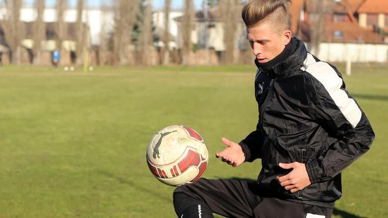 Az Újpest egykori focistája súlyos sérülése után újra labdával edzett /Fotó: RAS Archívum