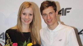 Kamil Stoch z żoną na konferencji prasowej