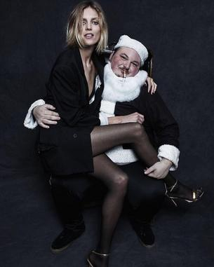 Anja Rubik w świątecznej kampanii Alexandra Wanga