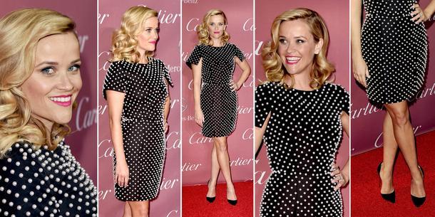 Best Look: Reese Witherspoon w małej czarnej Michaela Korsa