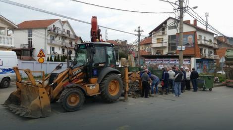 Cev je pre dva dana pukla na početku Ulice Željka Milivojevića