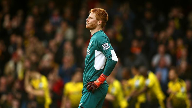 Szögletből kapott gólt Bogdán /Fotó: AFP